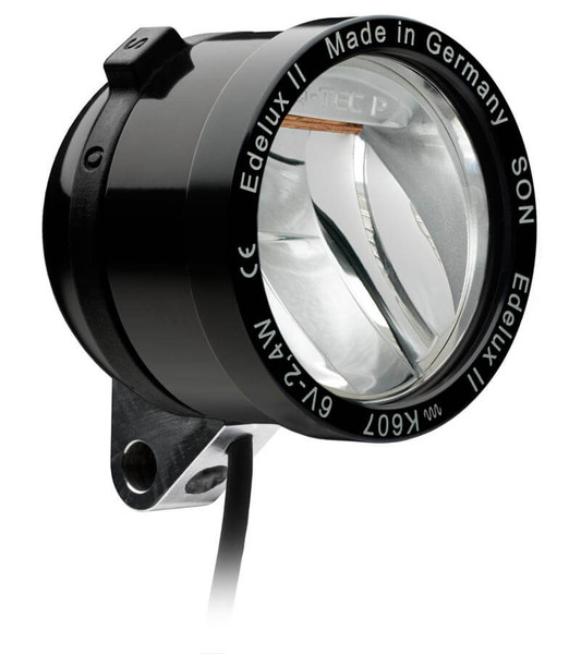 SON Edelux II High Power LED Headlight - Black Anodised