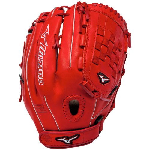 Mizuno MVP Prime SE GMVP1300PSEF1 Pitcher Outfielder Glove (Red/Black, Right Handed Throw)