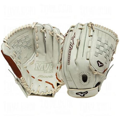 Mizuno MVP Prime SE GMVP1300PSEF1 Pitcher Outfielder Glove (Silver/Brown, Right Handed Throw)