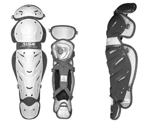 """All-star Womens System 7 Leg Guards 13"""" LGW13S7 (White/Navy)"""
