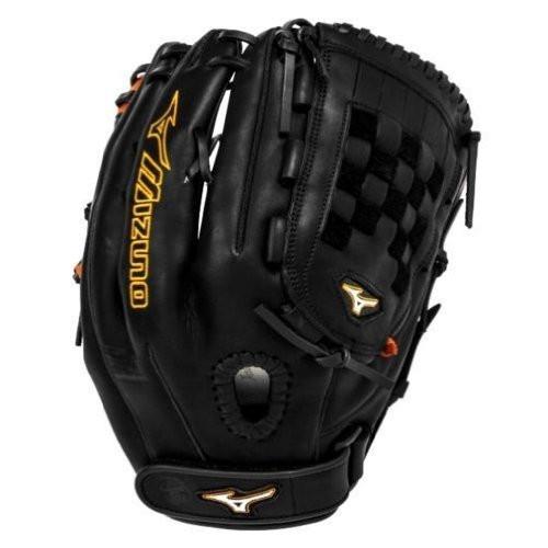 Mizuno MVP Prime SE GMVP1300PSEF1 Pitcher Outfielder Glove (Black/Orange, Right Handed Throw)