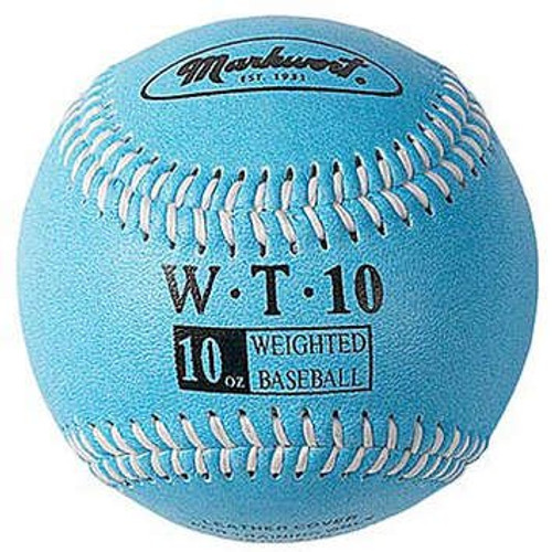 "Markwort Weighted 9"" Leather Covered Training Baseball (10 OZ)"