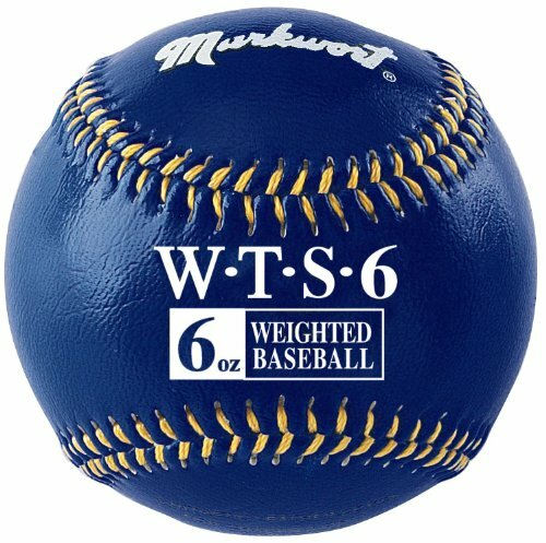 "Markwort Weighted 9"" Leather Covered Training Baseball (6 OZ)"