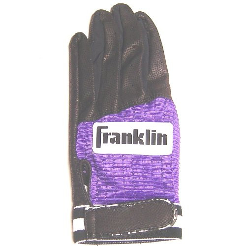 Franklin Batting Glove Black Purple 1ea (Large, Right Hand)