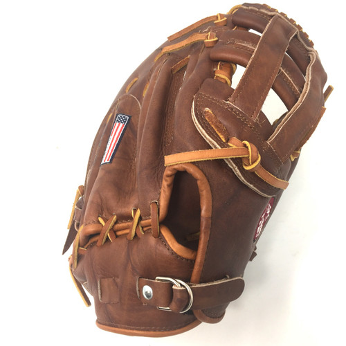 Nokona WB-1250H 12.5 H Web Walnut Baseball First Base Mitt (Right Handed Throw)