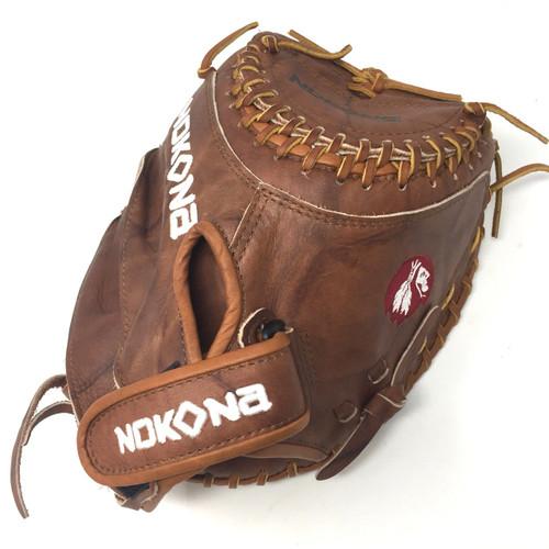 Nokona Walnut W-V3250C Fastpitch Softball Catchers Mitt 32.5 Right Hand Throw