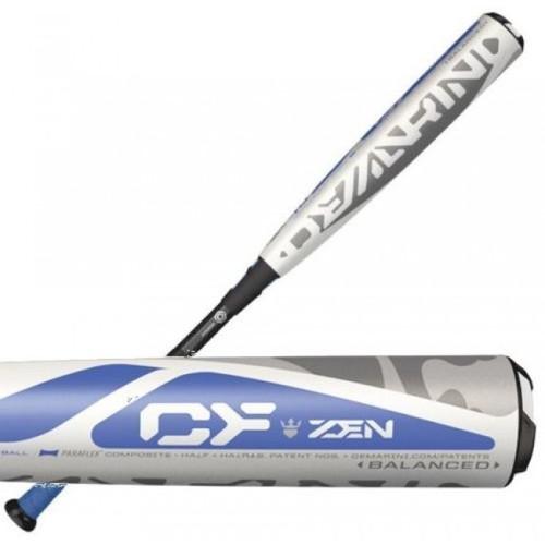DeMarini CF Zen Balanced -10 Drop 2 3/4 Baseball Bat WhiteBlueBlack 29 in 19 oz