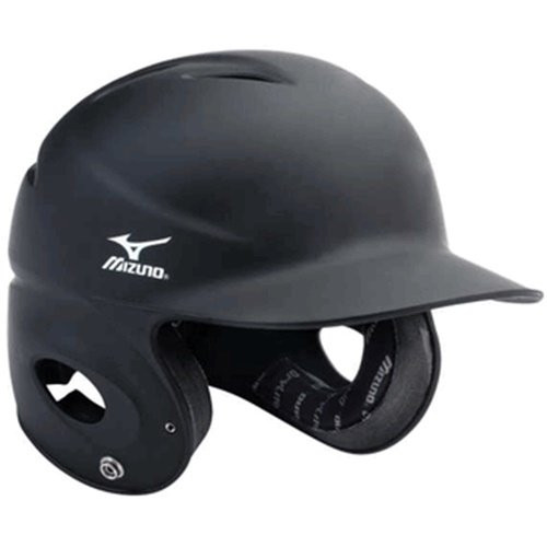 Mizuno MVP Fitted Batter's Helmet (Black, XS)