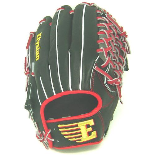 Elysian Baseball Glove 12 inch Red Black Mod Trap Right Hand Throw