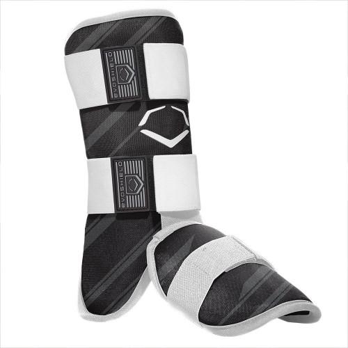 EvoShield MLB Batters Speed Stripe Leg Guard Black Adult