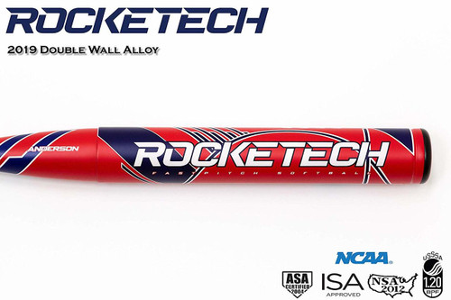 Anderson 2019 Rocketech -9 Fastpitch Softball Bat 34 inch 25 oz