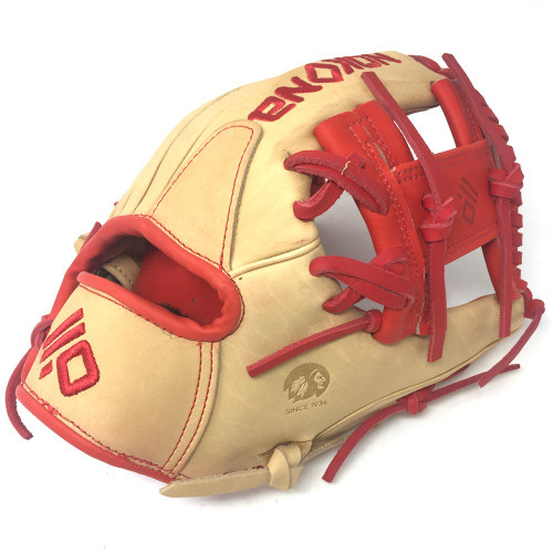 Nokona SKN Series 11.5 Inch SKN-6-RD Baseball Glove  Red Lacing Right Hand Throw