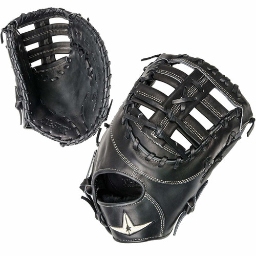 All-Star Pro-Elite 13 Inch FGAS-FB First Base Mitt Right Hand Throw Black