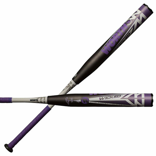 Worth Wicked XL Ryan Harvey ASA WKRHMA Slowpitch Softball Bat 34 inch 26 oz