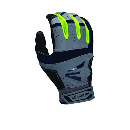 Easton HS9 Neon Batting Gloves Adult 1 Pair (Grey-Red, Small)