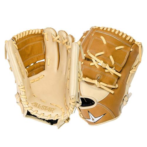 All-Star Pro Elite 12 Inch Baseball Glove FGAS-12002P Cream Saddle Tan Right Hand Throw
