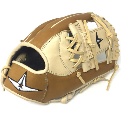 All-Star Pro Elite 11.5 I Web Baseball Glove Right Hand Throw Cream Saddle Tan