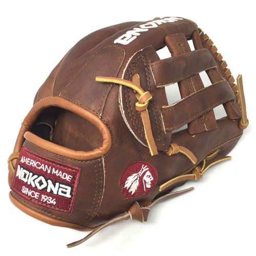 Nokona Walnut H-Web 11.75 Inch W-1175 Baseball Glove Right Hand Throw
