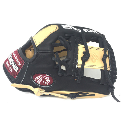 Nokona Bison Black Alpha Select Baseball Glove S-200IB 11.25 inch Right Hand Throw