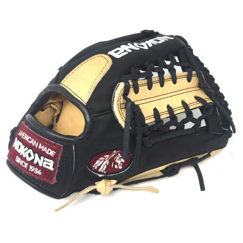 Nokona Bison Black Alpha Baseball Glove S-200MB 11.25 inch Right Hand Throw