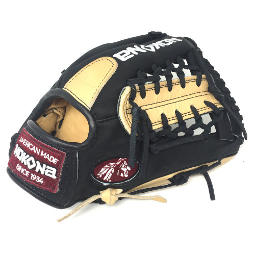 Nokona Bison Black Alpha Select Baseball Glove S-200MB 11.25 inch Right Hand Throw