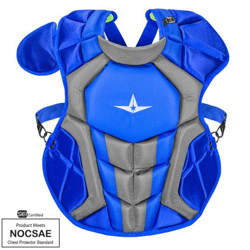 All-Star S7 Axis Chest Protector 12-16 - 15.5 Royal Grey NOCSAE