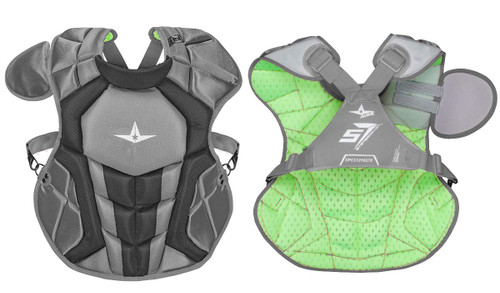 All-Star S7 Axis Chest Protector 12-16 - 15.5 Graphite Grey NOCSAE