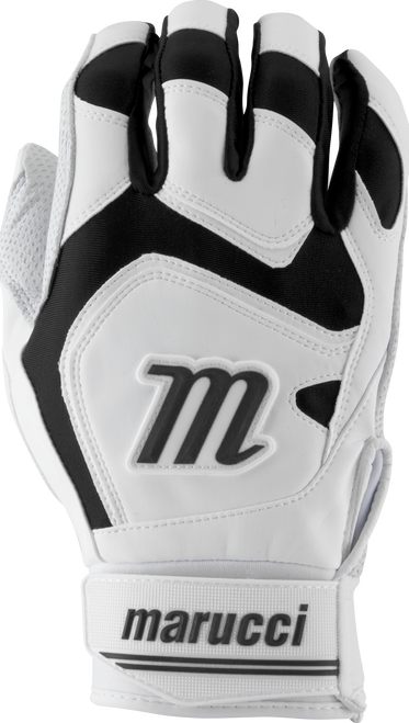 Marucci Signature Batting Gloves MBGSGN2 1 Pair White Black Adult Large
