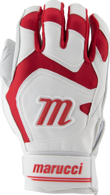Marucci Signature Batting Gloves MBGSGN2 1 Pair White Red Adult Small