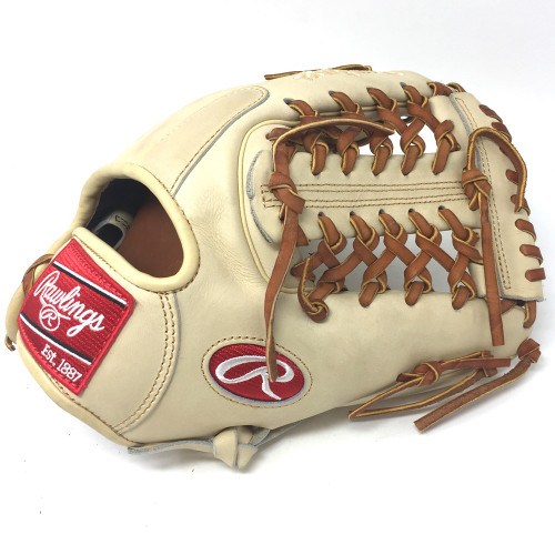 Rawlings Heart of the Hide PRO2174 Camel 11.5 Baseball Glove Modified Trap Right Hand Throw