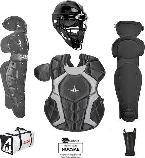All-Star Youth 9-12 Players Series Catcher Set Black