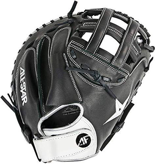 All-Star Fast Pitch Softball Catchers Mitt 33.5 Black Right Hand Throw