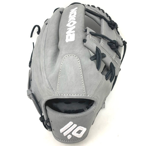 Nokona American KIP 14U Gray with Black Laces 11.25 Baseball Glove I-Web Right Hand Throw