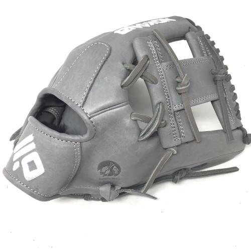 Nokona American KIP 14U Gray with Silver Laces 11.25 Baseball Glove I-Web Right Hand Throw