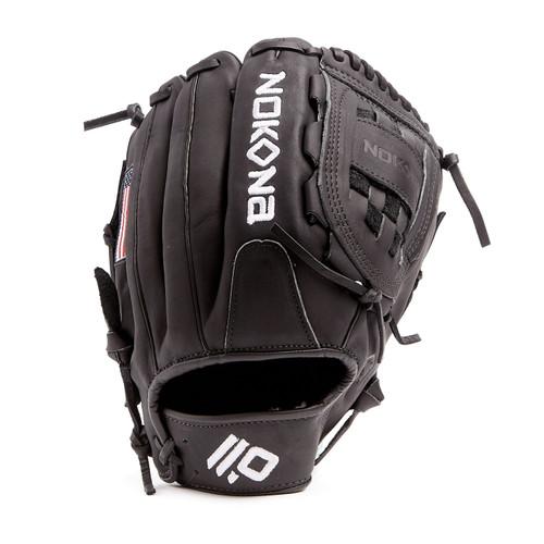 Nokona Black AmericanKip Baseball Glove 12 Right Hand Throw