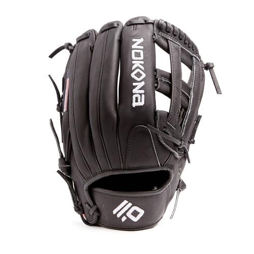 Nokona Black AmericanKip Baseball Glove 12.75 Right Hand Throw