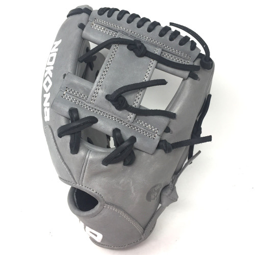 Nokona American KIP Gray with Black Laces 11.5 Baseball Glove I-Web Right Hand Throw