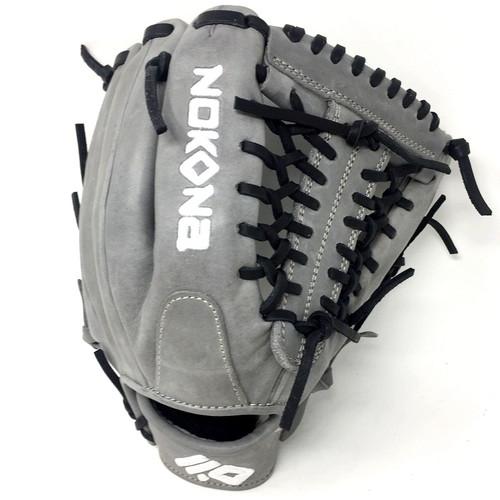 Nokona American KIP Gray with Black Laces 11.5 Baseball Glove Mod Trap Web Right Hand Throw