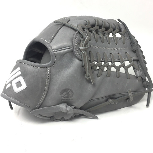Nokona American KIP Gray with Gray Laces 12 Baseball Glove Mod Trap Web Right Hand Throw