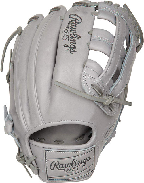 Rawlings Pro Label Grey Baseball Glove 12.25 Right Hand Throw