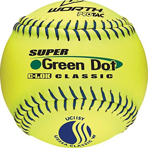 Worth USSSA 11 Inch Slowpitch Softballs Classic W Protac 1 Dozen