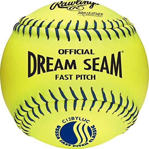 Rawlings Official 12 inch USSSA Fastpitch Softballs C12BYLUC 1 Dozen