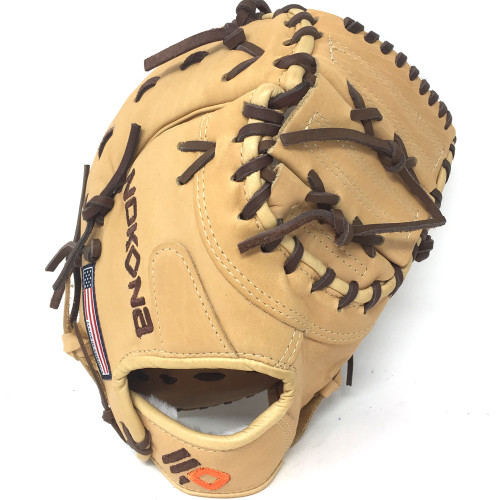 Nokona Alpha Baseball First Base Mitt 14U Tan 10.5 Rigth Hand Throw