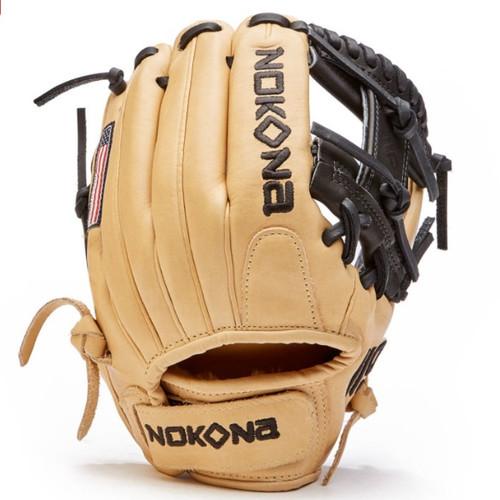 Nokona SKN Fast Pitch Softball Glove 11.5 Velcro Closure Right Hand Throw