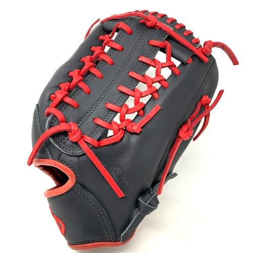 Nokona American Kip 12.75 Baseball Glove Black Red Right Hand Throw