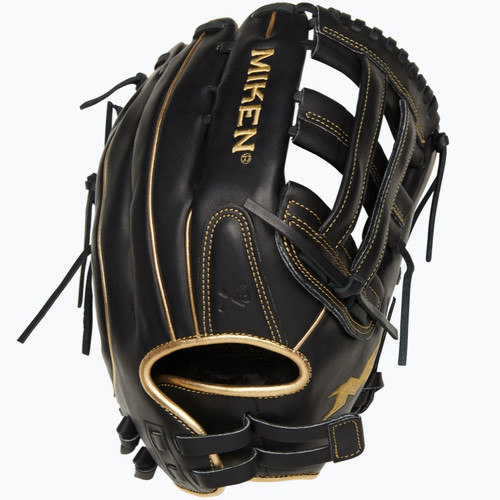 Miken Gold Pro Black Slowpitch Softball Glove 13 in Right Hand Throw