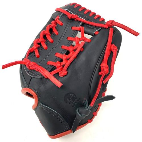 Nokona American Kip 11.5 Baseball Glove Black Red Right Hand Throw
