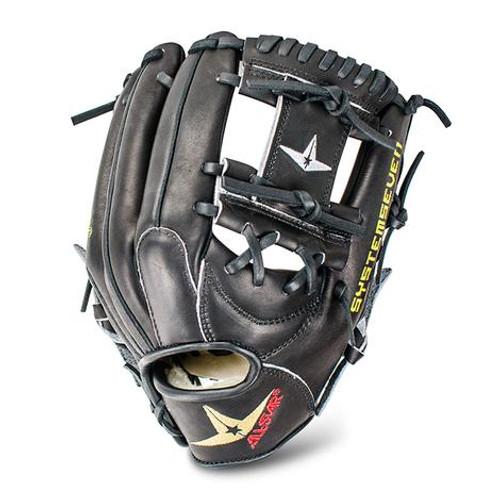 All-Star FGS7-IFBK Infield Baseball Glove All Black 11.5 Right Hand Throw