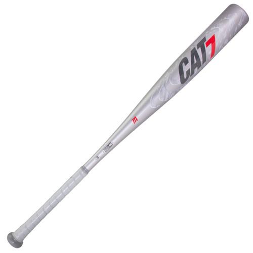 Marucci CAT7 Silver -3 BBCOR Baseball Bat 33 inch 30 oz