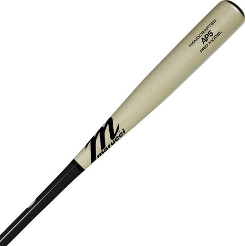 Marucci Albert Pujols Pro Model Black Natural Maple Wood Baseball Bat 34 inch